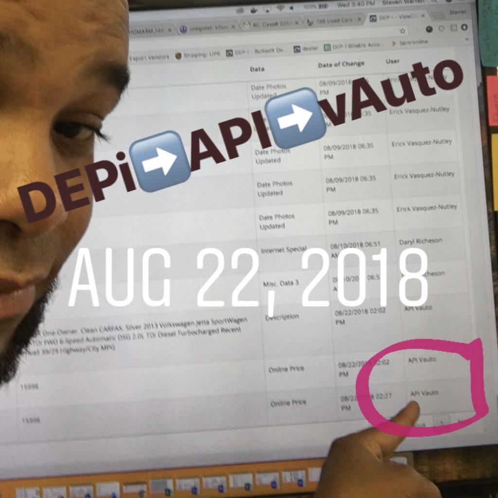 DEPi IMS Connects to vAuto via API